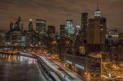 FDR Manhattan linia horyzontu Obrazy Royalty Free