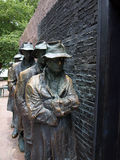 FDR Memorial - The Breadline Stock Image
