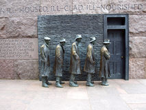 FDR Memorial - The Breadline Stock Photo