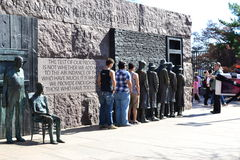 FDR Memorial, Soup Line, Washington DC, National Mall Royalty Free Stock Photo