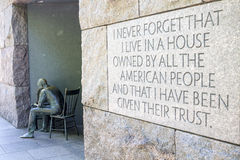 FDR memorial Washington DC Stock Images