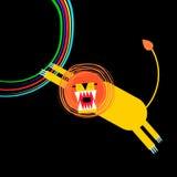 FE animal del gato del diseño del mamífero del safari del ejemplo salvaje del león Imágenes de archivo libres de regalías