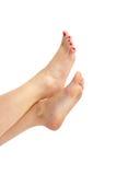 Füße in der Luft Stockfotos