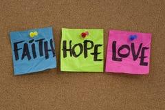 Fe, esperanza y amor Foto de archivo