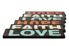 Fe, esperanza y amor Imagenes de archivo