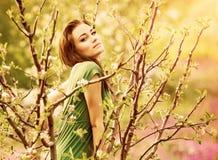 Fe-svans skognymf Royaltyfria Bilder