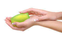 Feamle hand soap Stock Photo