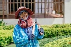 Feamle Thai gardener Royalty Free Stock Image