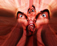 Fear 51. My vision of a abstract nightmare with some human faces in fear.  A good image for Halloween Stock Photos