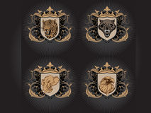 Fear Animals. Icons and vector graphics good for tshirt designs and other web medias Royalty Free Stock Photography