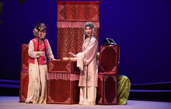 """Fear of being discovered-Kunqu Opera """"the West Chamber"""" Royalty Free Stock Images"""