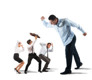 Fear of the boss stock images