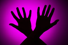 Fear. Concept on a pink background Stock Image