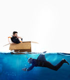 Fear of crisis and business competition concept royalty free stock photography