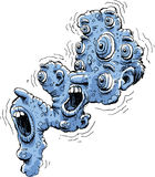 Fear Face. Abstract cartoon character representing fear royalty free illustration
