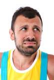 Fear facial expression Stock Photos