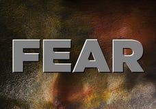 Word fear illustration