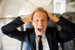 Fear of flight. Stock Photography