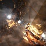 Fear is gone. Scifi future 3d escape royalty free illustration