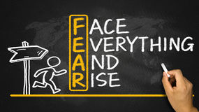 Fear means face everything and rise Royalty Free Stock Photo