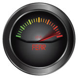 Fear meter indicate Royalty Free Stock Photo