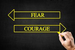 Free Fear Or Courage Arrows Concept. Stock Image - 191625461