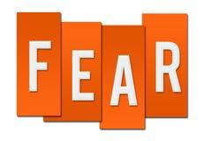 Fear Orange Stripes. Fear text written over orange stripe elements Royalty Free Stock Image