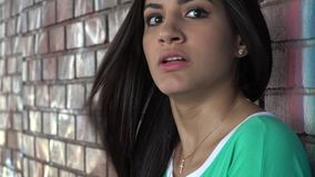 Fear, Scared, Afraid, Emotion. Stock video of a Hispanic woman stock video