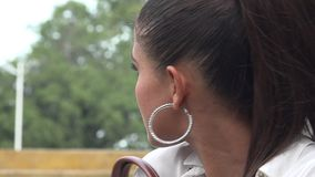 Fear, Scared, Afraid, Emotion. Stock video of a woman stock video footage