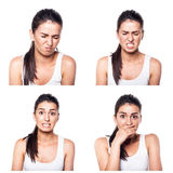 Fear, shock, stress girl composite Royalty Free Stock Photography
