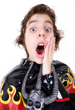 Fear or surprise expression Royalty Free Stock Photography