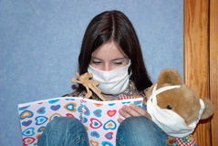 Fear swine flu Royalty Free Stock Photos