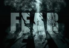 Fear. Wallpaper thematic fear, halloween, undead royalty free illustration