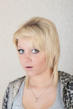 Fearful glance Stock Images