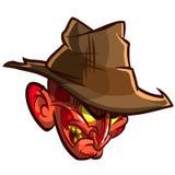 Fearful Halloween Character. Halloween cartoon monster. Vector illustration Stock Photography