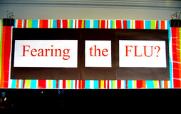 Fearing the FLU?. Picture of the sign Fearing the flu Royalty Free Stock Photo