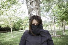 Fearing woman Stock Photos