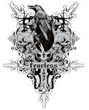 Fearless. Vector illustration ideal for printing on apparel clothing Royalty Free Stock Images