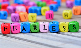 Fearless word on table Stock Photography
