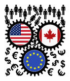 Fears over TTIP and CETA Royalty Free Stock Image