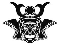 Fearsome samurai mask Royalty Free Stock Photo