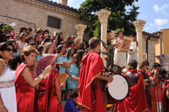 FEAST of BACCHUS .Burgos .SPAIN Royalty Free Stock Image
