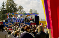 The feast day of the city in the town of Vetka, Gomel region of the Republic of Belarus. Royalty Free Stock Photo