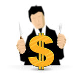 Feast on a Dollar Stock Photography