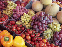 A feast of fruits & vegetables Stock Photography