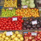 A feast of fruits and vegetables for sale Royalty Free Stock Photo