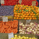 A feast of fruits and vegetables for sale Royalty Free Stock Images