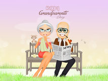 Feast of grandparents. Illustration of feast of grandparents Stock Photo