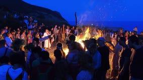 Feast of Ivan Kupala stock video footage
