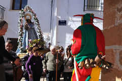 Feast LA CANDELARIA .Retiendas.SPAIN Royalty Free Stock Photography